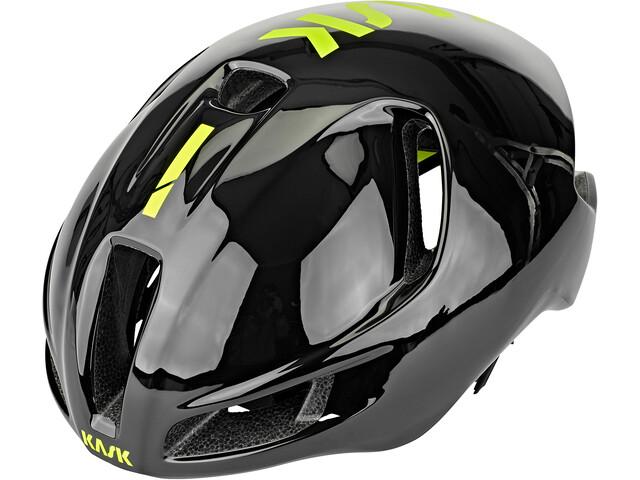 Kask Utopia Kask rowerowy, black/fluo yellow